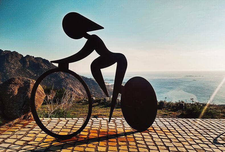 ézaro mirador vuelta ciclista