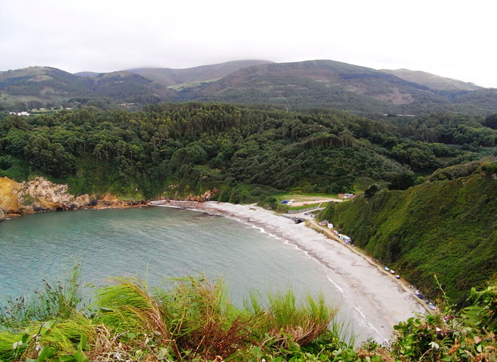 playa de Cadavedo en Luarca