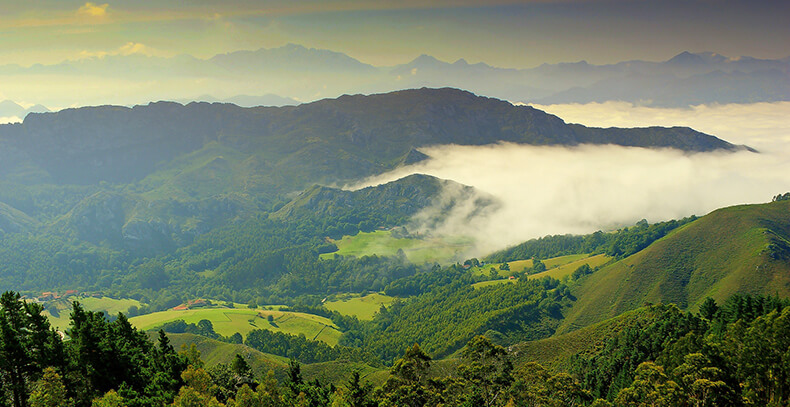 vistas mirador del Fitu Asturias