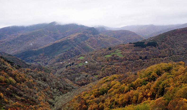 sierra del caurel en otoño