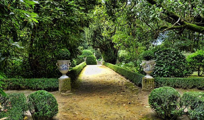 jardines del pazo de Oca