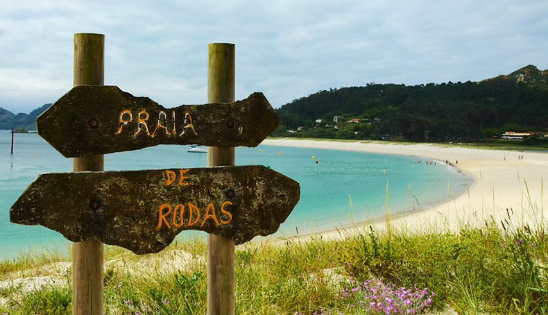 mejores playas de Pontevedra praia de rodas Islas Cíes