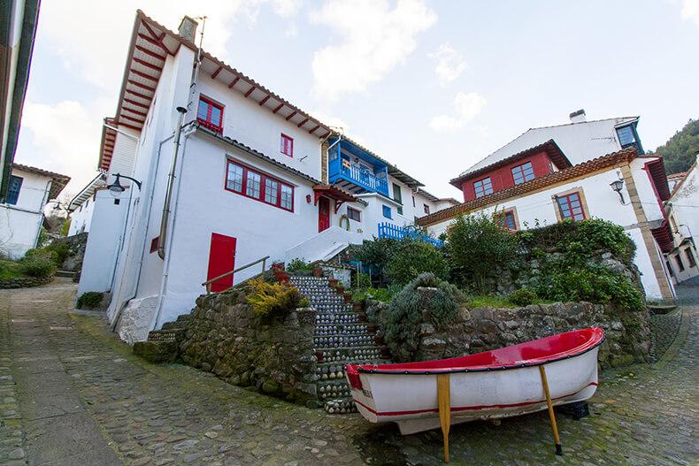 calles de Tazones en Villaviciosa Asturias