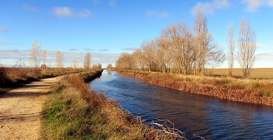 Canal de Castilla paisaje