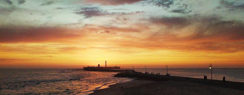 castillo de San Sebastián Cádiz puesta de sol
