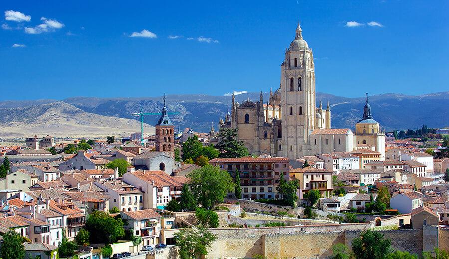 catedral de Segovia panorámica