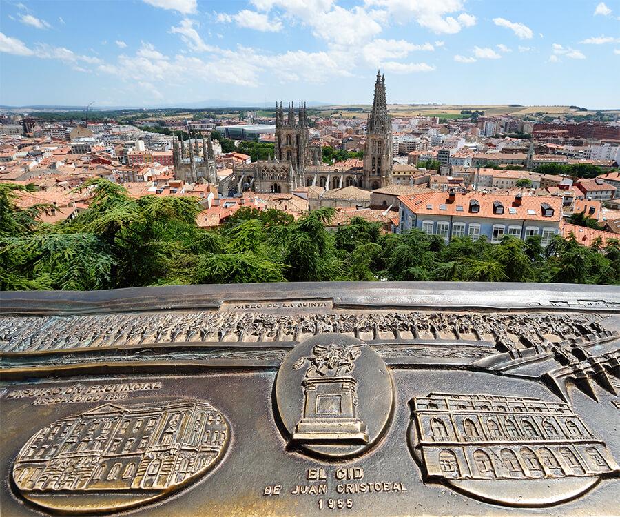 mirador del Castillo de Burgos panorámica