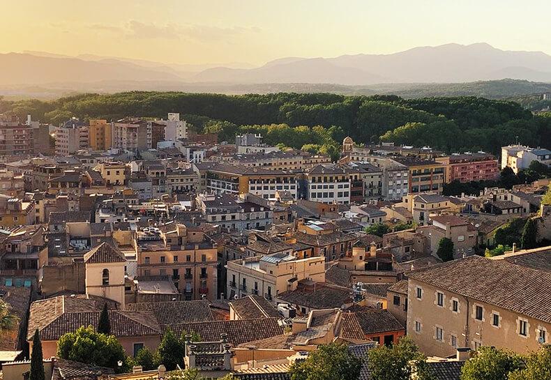 muralla de Girona vistas viudad