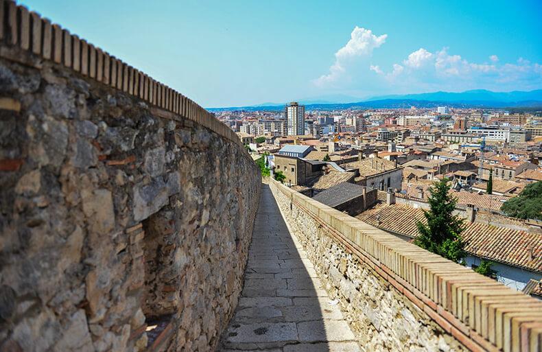 muralla de Girona vistas