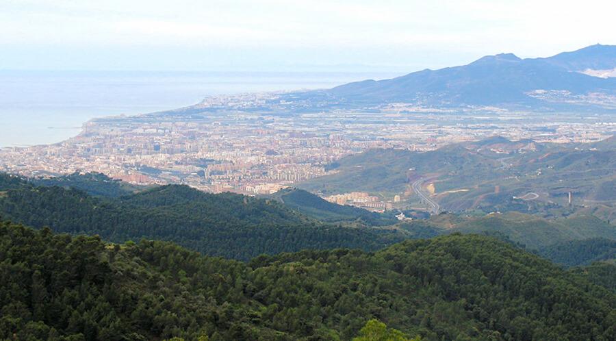 vistas de Málaga desde el Parque Natural Montes de Málaga