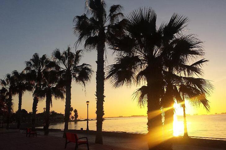 Playa de Los Narejos Puesta de Sol