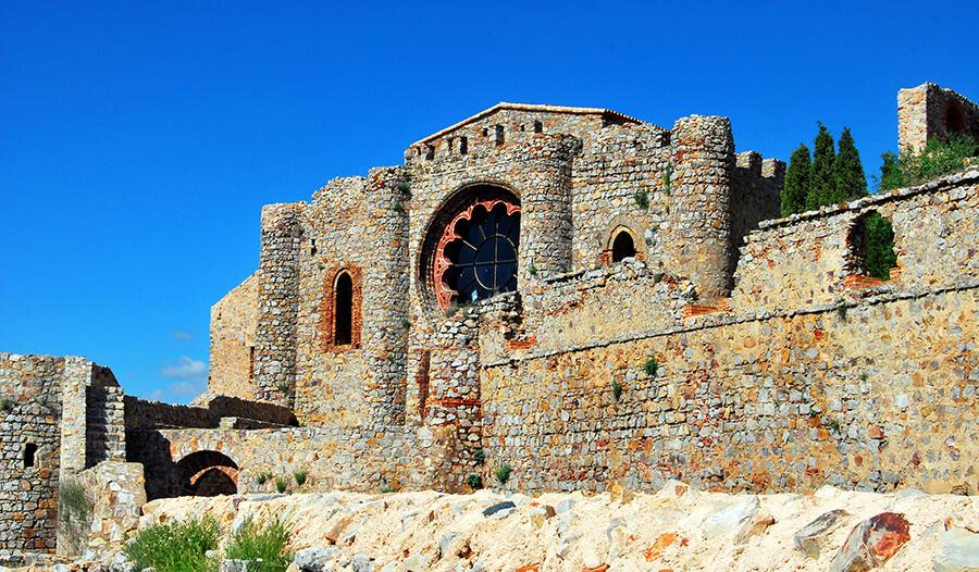 castillo de Calatrava La Nueva y Sacro Convento iglesia