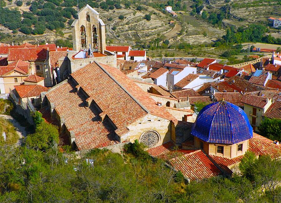 Morella vistas basílica