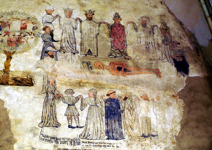 Morella frescos convento de San Francisco