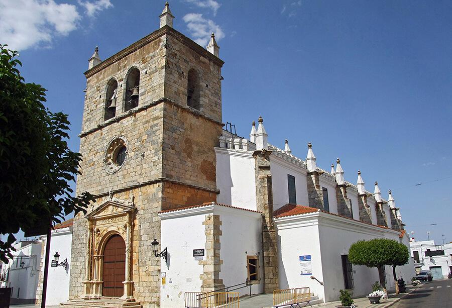 iglesia de Santa María de la Magdalena en Olivenza Badajoz