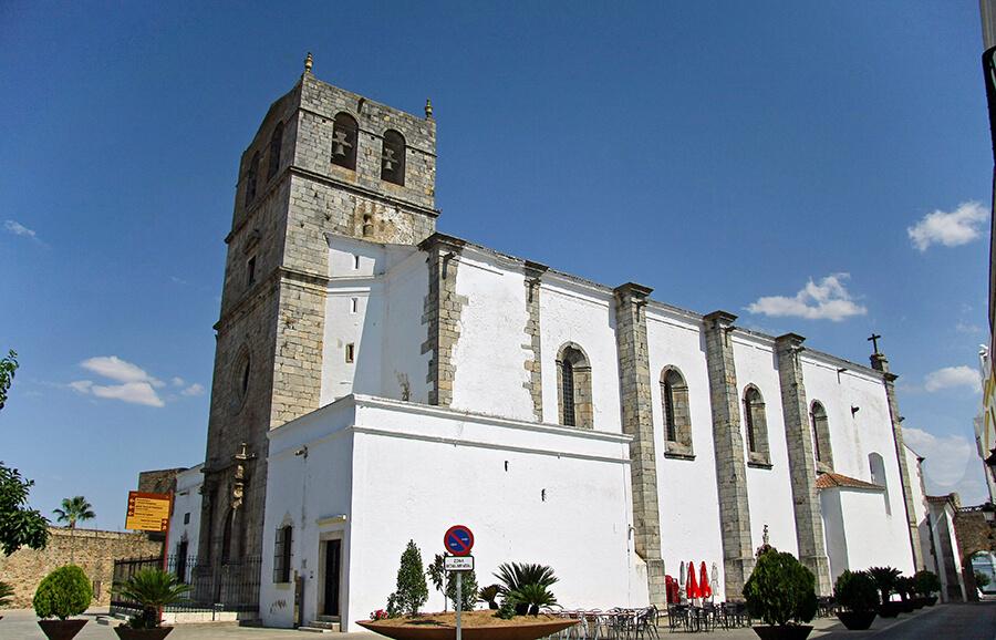 iglesia de Santa María del Castillo en Olivenza en Badajoz