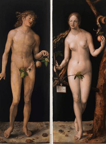 Adán y Eva, de Alberto Durero - Museo del Prado