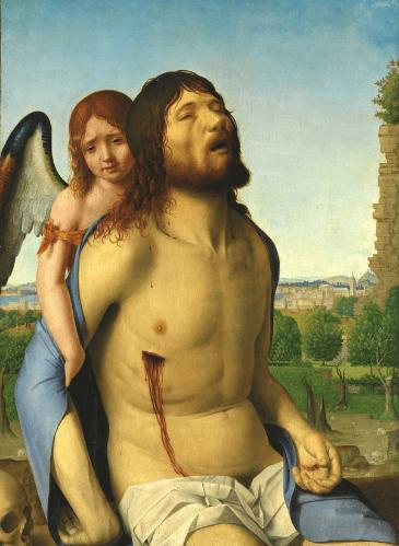 Cristo muerto, sostenido por un ángel, de Antonello da Messina - Museo del Prado