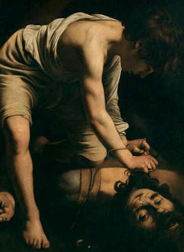 David vencedor de Goliat, de Caravaggio - Museo del Prado