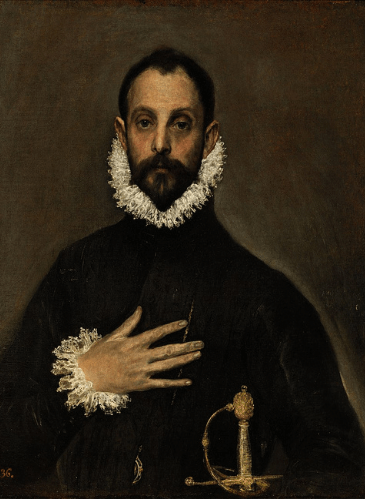 El caballero de la mano en el pecho,de El Greco - Museo del Prado