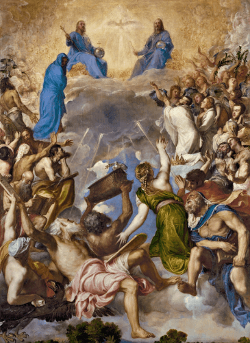 La Gloria, de Tiziano - Museo del Prado