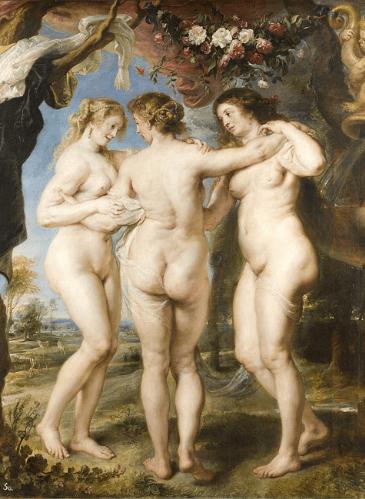 Las tres Gracias, de Rubens - Museo del Prado