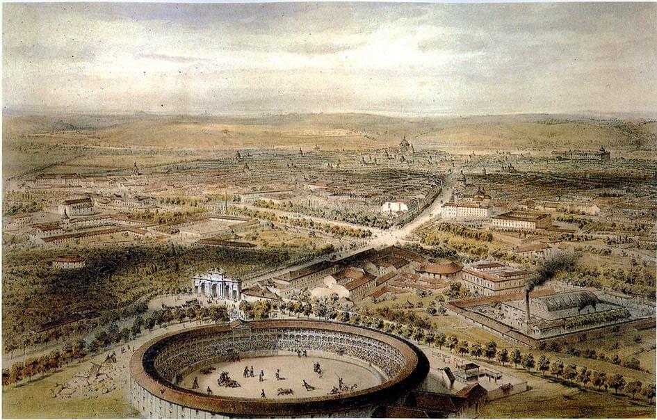 Puerta de Alcalá Madrid año 1854