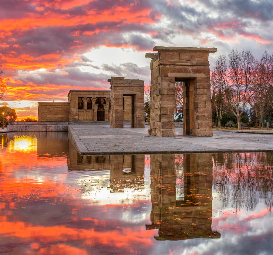 Templo de Debod puestas de sol Madrid