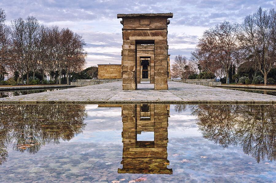 templo de Debod panorámica