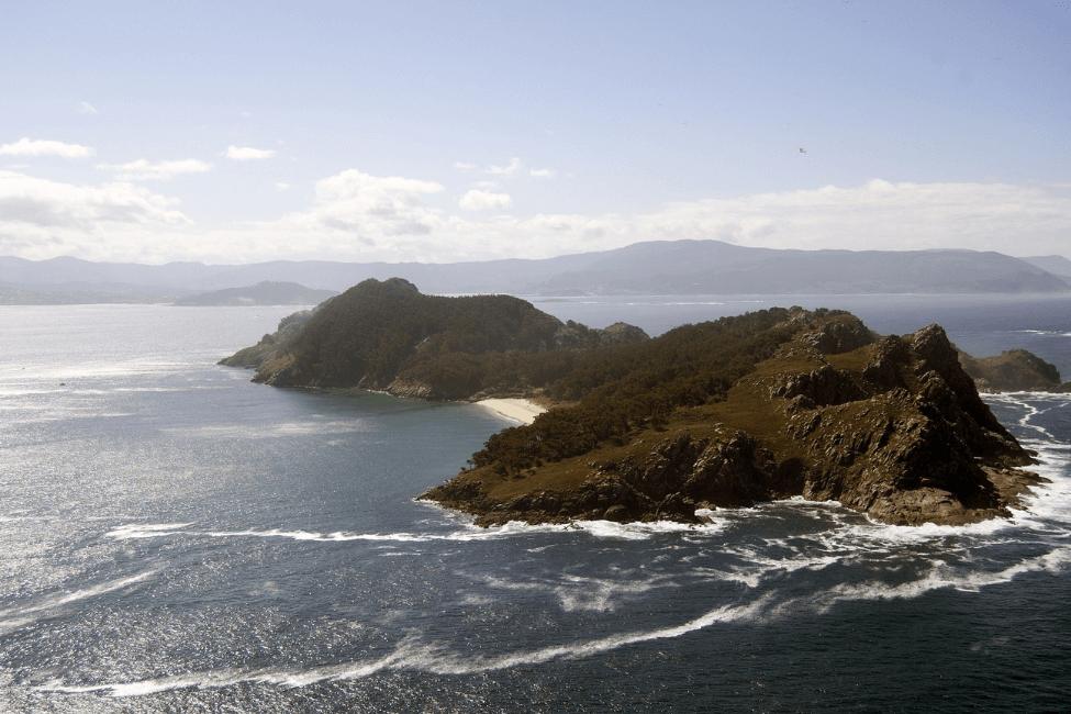 Islas Cies vista aerea