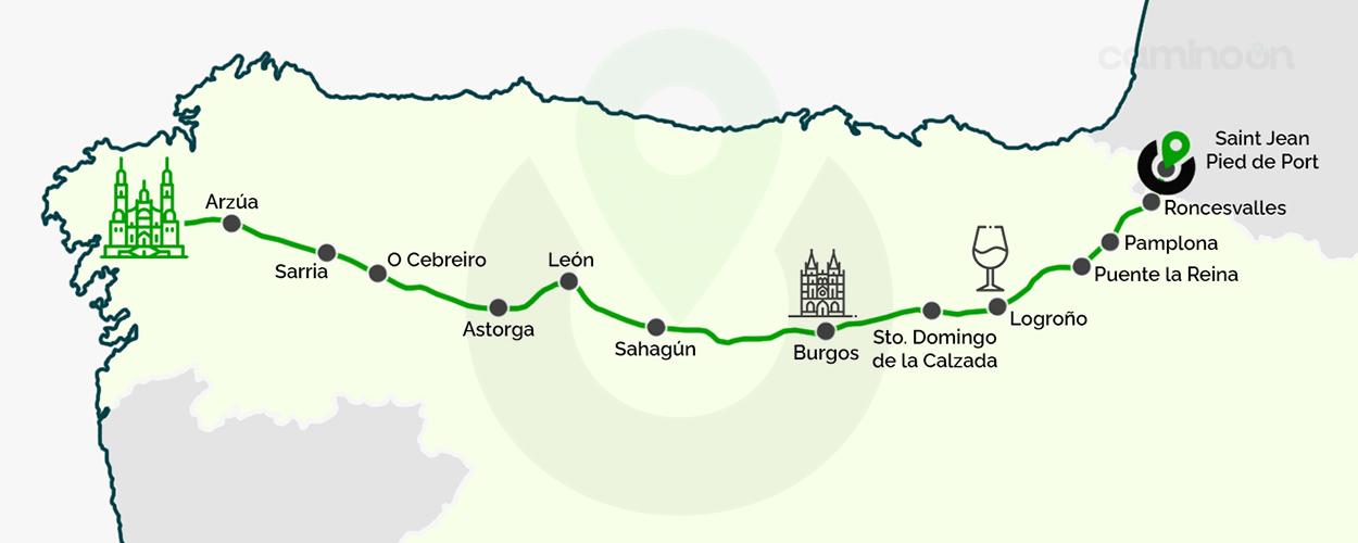 Camino Frances Mapa
