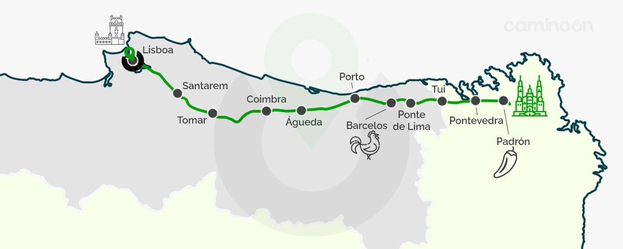 Camino Portugues Mapa