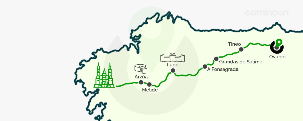 Camino Primitivo Mapa