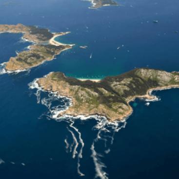 Islas cies barco en Portonovo